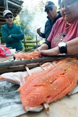 Traditional Aboriginal Salmon Dinner with West Coast Expeditions