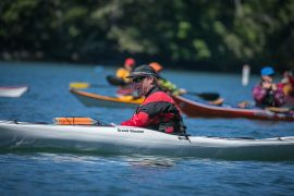 Dave Pinel at Pacific Paddling Symposium