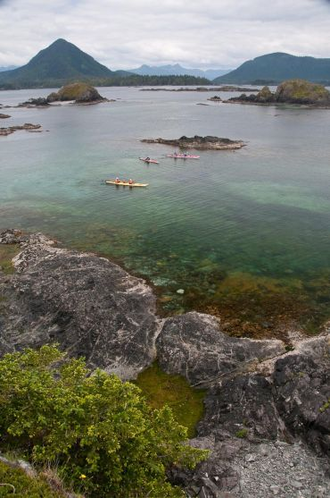 kayaking in the Minx Rocks area, Kyuquot, BC