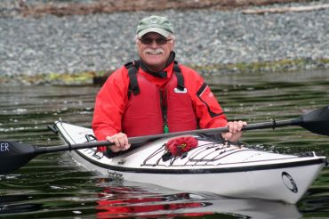 guest Peter Williams kayaking