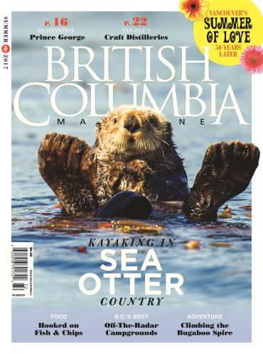cover of BC Magazine with sea otter