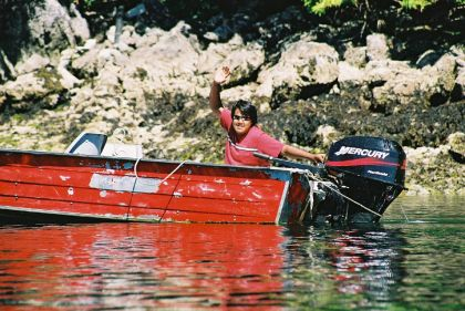 late Henry Jack Jr in his boat circa 2000