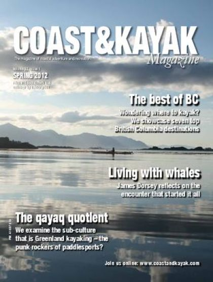 cover of Coast & Kayak Magazine, Spring 2012