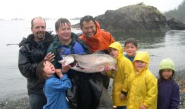 Rupert Wong With Family And Friends Salmon Fishing By Kayak in Kyuquot, BC