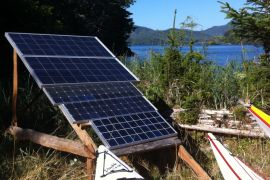 solar panels at wilderness retreat
