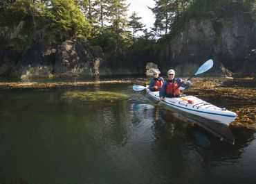 Coastal Waters Wilderness Kayaking Adventures at Spring Island on Vancouver Island