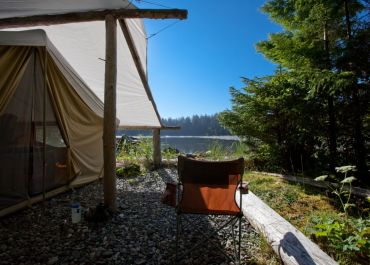 waterfront canvas tent