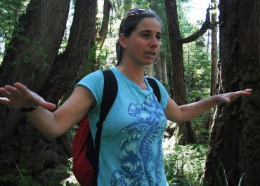WCE co-owner Caroline Fisher doing forest talk