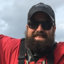 Kellan Throrlakson assistant kayak guide in BC